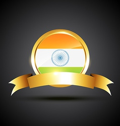 indian flag label vector image