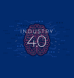 Industry 40 concept fourth industrial revolution vector