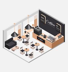 interior coffee shop vector image