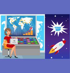 international business expansion flat vector image