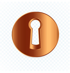 Isolated round keyhole on white transparent vector