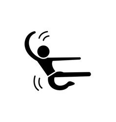karate man black icon sign on isolated vector image