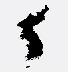 korea island map silhouette vector image