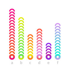 linear histogram bar chart icon vector image