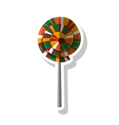 Lolly of fair food design vector image