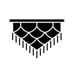 Macrame silhouette icon art knotting cord vector
