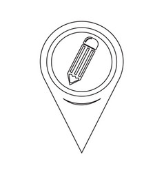 Map pointer pencil icon vector