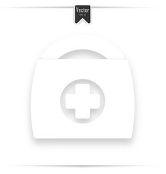 medical first aid sign white with vector image