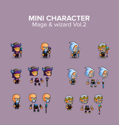 mini character magical kit vector image