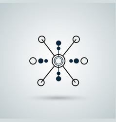 molecule and atom icon vector image