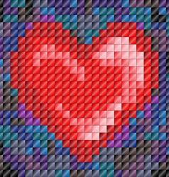 Mosaic tile heart vector