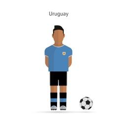 National football player Uruguay soccer team vector