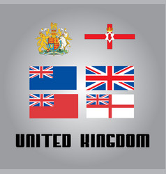 Official government elements of united kingdom vector