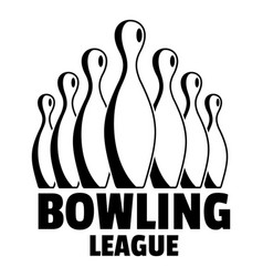 Old bowling league logo simple style vector