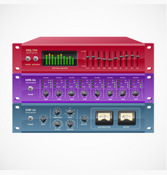 Pro audio rackmount gear set vector