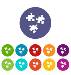 puzzle set icons vector image