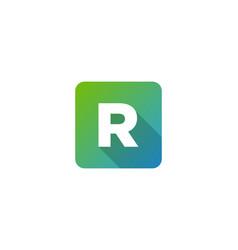 R modern gradation shadow letter logo icon design vector