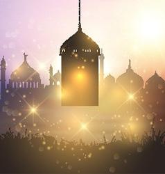Ramadan lantern background 1905 vector