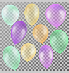 Realistic colorful transparent balloons for vector