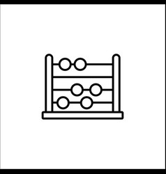 School abacus line icon education and school vector