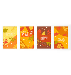 set abstract autumn backgrounds vector image
