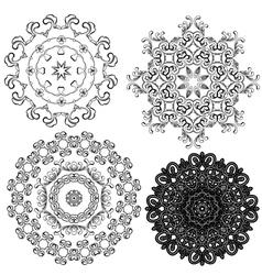set circle 1color 7 380 vector image