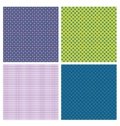 Set of 4 abstract geometrical seamless patterns vector