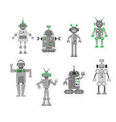 Set of abstract cartoon robots vector image