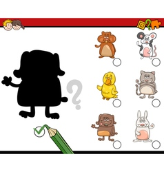 Shadows activity with pets vector