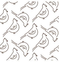 simple fun line style birds seamless vector image
