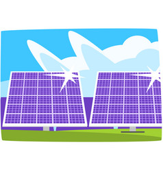 solar power plant ecological energy producing vector image