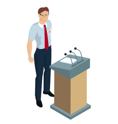 speaker giving a talk vector image
