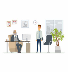 Stressful situation at work - modern cartoon vector