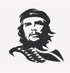 stylized portrait of ernesto che guevara vector image