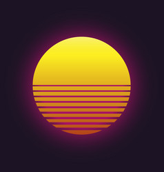 Sunset icon vector