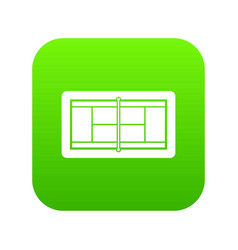 tennis court icon digital green vector image