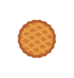 thanksgiving pie flat icon vector image
