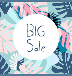 trendy pastel sale banners vector image