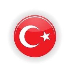 Turkey icon circle vector image
