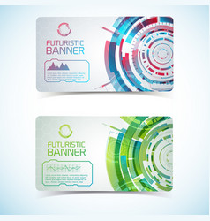 Two futuristic banners set vector