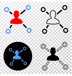 user links eps icon with contour version vector image