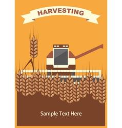 Wheat Harvest Background vector