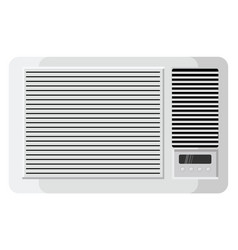 Window ac on white background vector