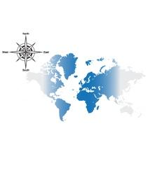 world navigation vector image vector image