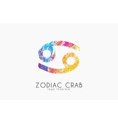 Zodiac crab logo Crab symbol Zodiac symbol vector