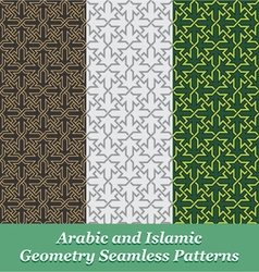 Arabic and Islamic Geometry Seamless Patterns vector image