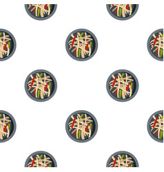 asian salad pattern seamless vector image