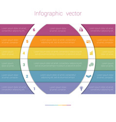 Colorful strips and white semicircles for text 6 vector