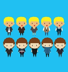 funny cartoon of young people with fashion style vector image vector image