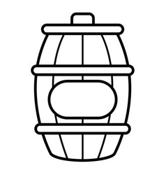 honey barrel icon outline style vector image vector image